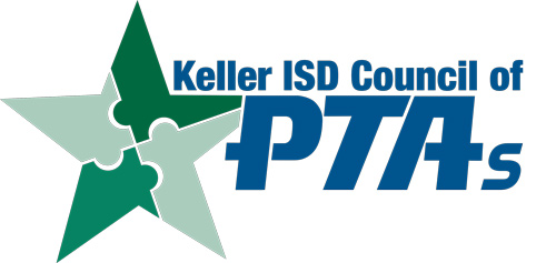 PTA logo, green puzzle piece star