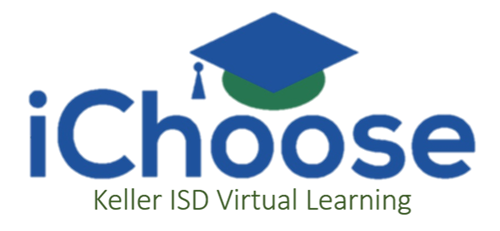 logo for iChoose virtual learning program in Keller ISD