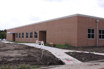 Northeast corner of the new classroom addition