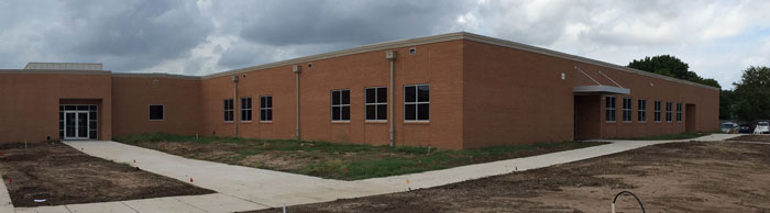 Panoramic image of BCI classroom addition