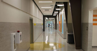 Central hallway of ELC South