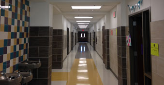 Completed hallway at SVES