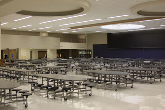 View of the renovated KHS Cafeteria from the northeast corner of the space