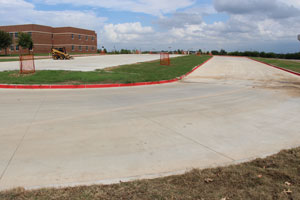 Extension of Hillwood Middle School Drop-off/Pick-up lane