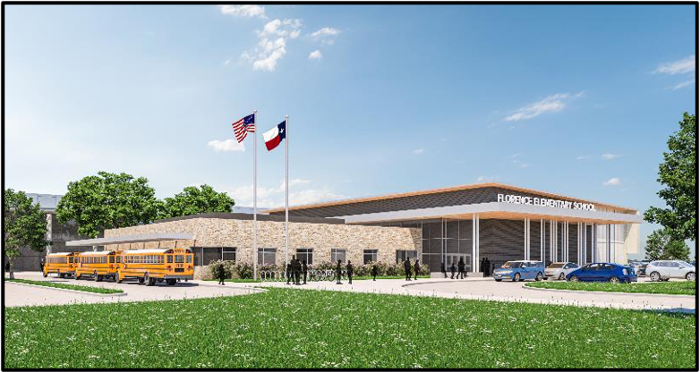 Rendering of completed Florence Elementary