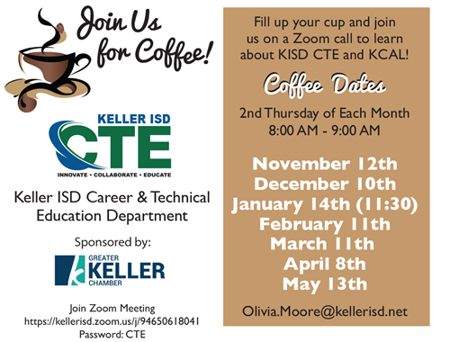 CTE Coffee Talk and Virtual Tour