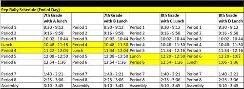 Calendar/Bell Schedules / Bell Schedules