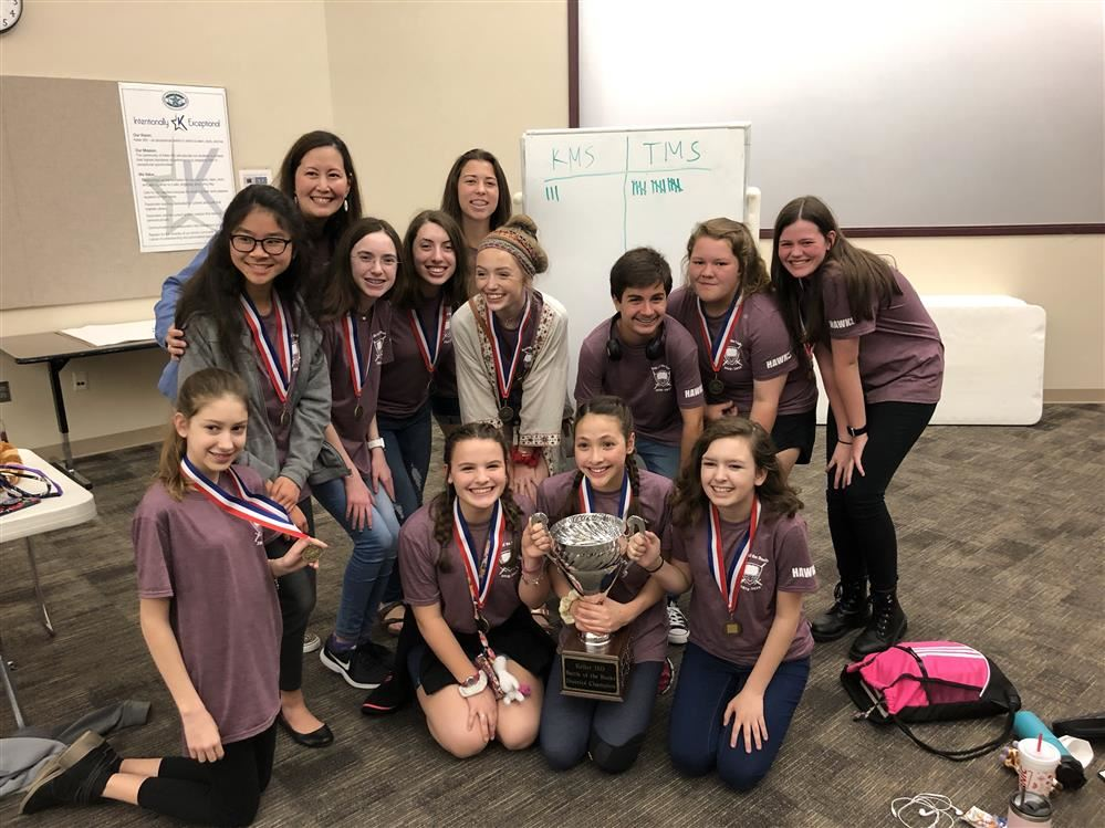 The Timberview Battle of the Books team won first place at the district competition!!