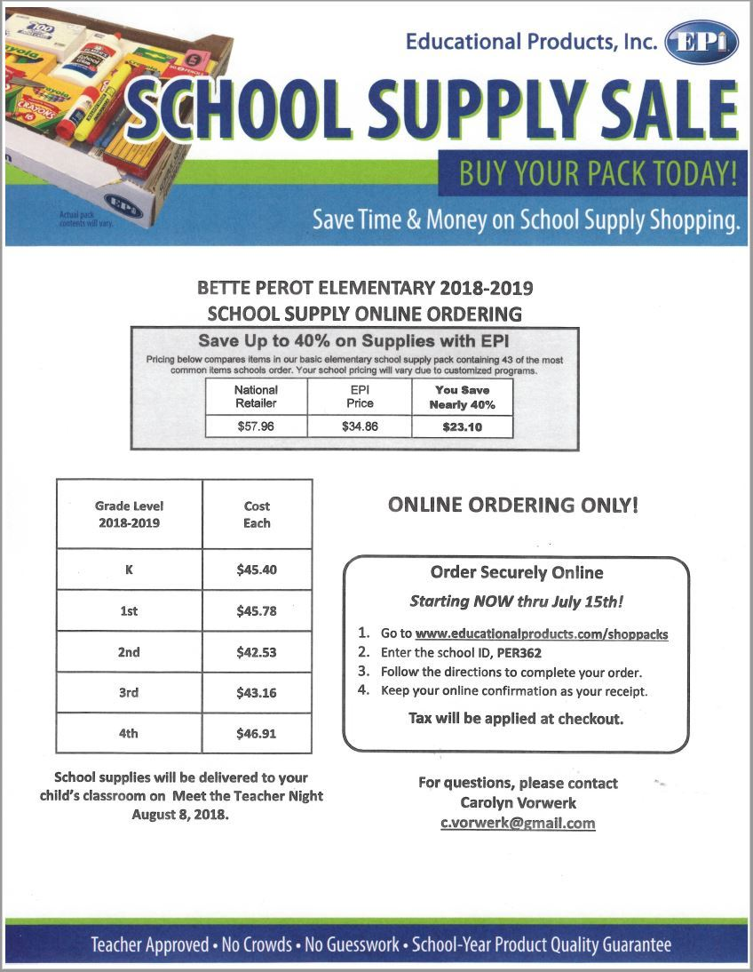 Supply order page