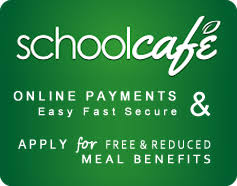 School cafe logo on green background
