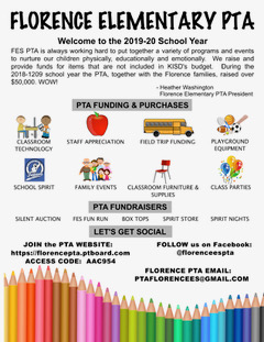 PTA Welcome to 2019 - 2020