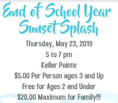 End of the Year Sunset Splash -  Thursday, May 23rd