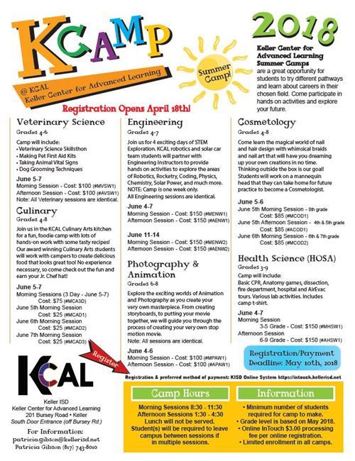 Kcamp Summer Camp Flyer