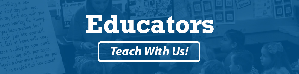 "Educators Button ""Teach With Us!"""