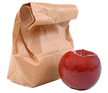 Brown Bag with Apple