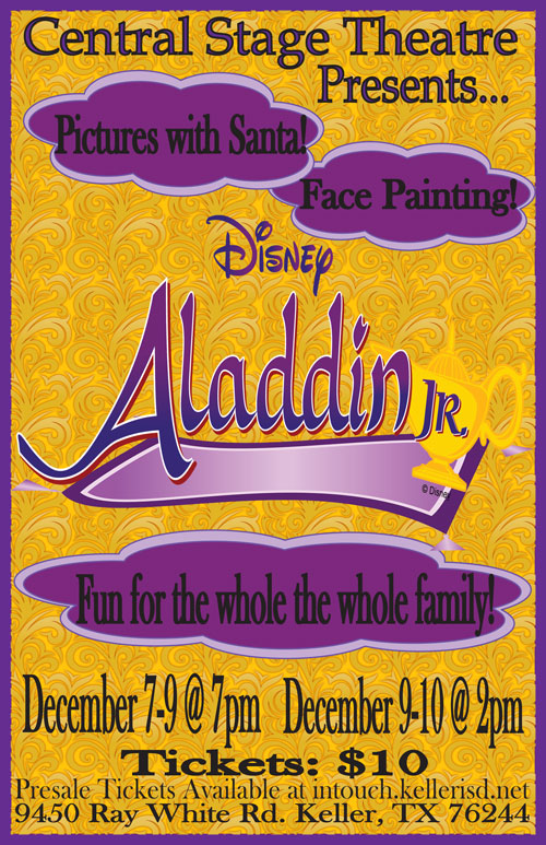 Central High School Aladdin Jr Poster