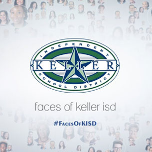 Faces of Keller ISD with KISD Logo