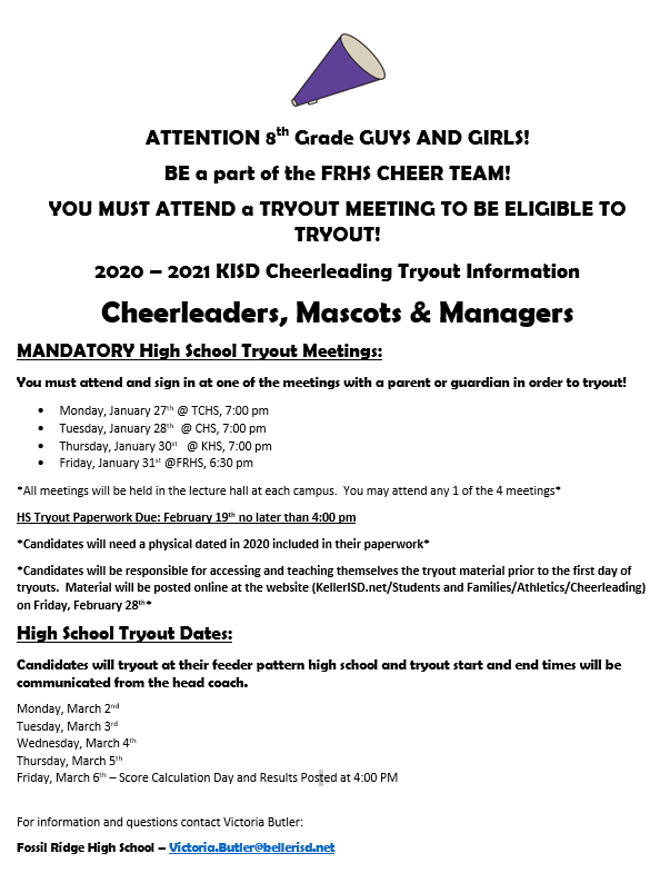 High School Cheer Tryouts!