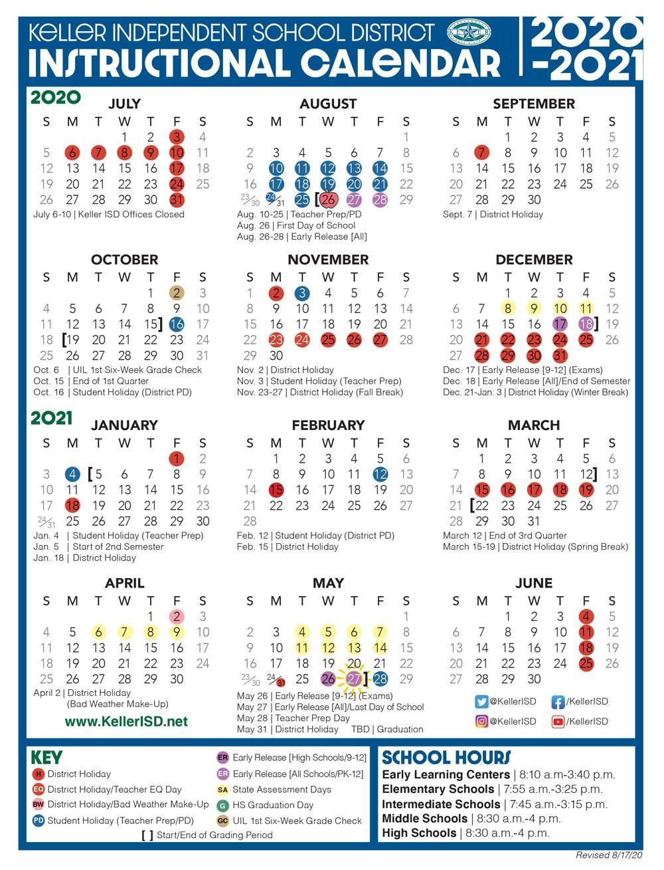 Keller Isd Calendar 2022 2023.Instructional Calendar