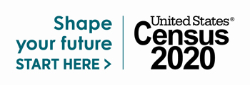 """Shape your future. Start here >. United States Census 2020"